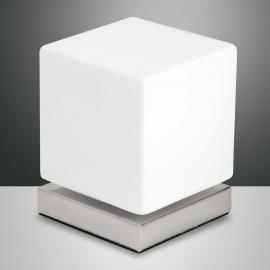 Lampe à poser LED Brenta chromée avec variateur