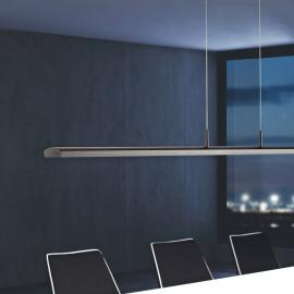 Suspension LED dimmable Alpha, finition platine