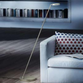 Lampadaire LED Plano S avec finition platine