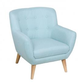 Atmosphera Fauteuil Vlad - L. 71 cm - Bleu ciel