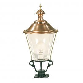 Luminaire pour socle K3b vert et chapeau cuivre