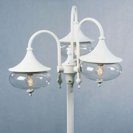 Superbe lampadaire blanc 3 abat-jours