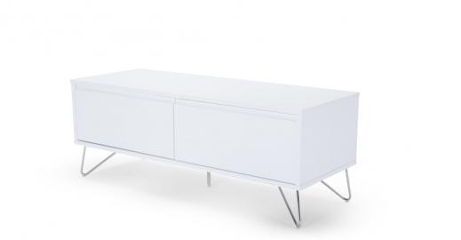 Elona, meuble TV, blanc brillant