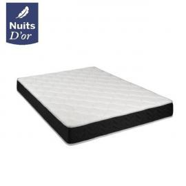 Nuits D'OR Matelas 160x200 Latex + Aertech - Hauteur 20 Cm - Soutien Ferme - Orthopédique