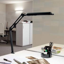 Lampe à poser LED Atlantic avec pince noire