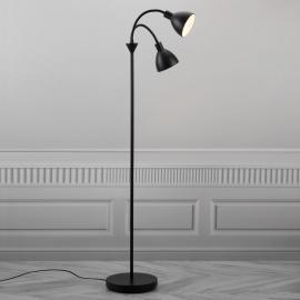 Lampadaire Ray en métal noir à 2 lampes