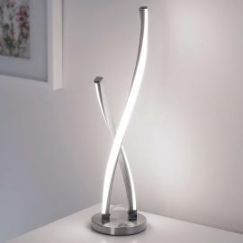 Lampe à poser LED Polina torsadée