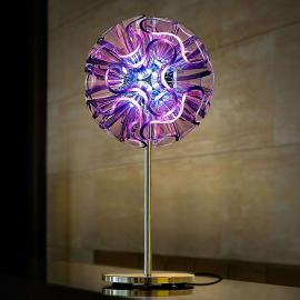 Lampe de table design Coral avec LED, violet