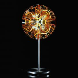 Lampe de table design Coral avec LED, orange