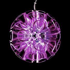 Lampe à suspension LED sphérique Coral, violet