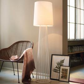 Lampadaire Milan en textile blanc