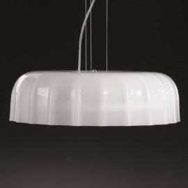 Suspension moderne Big Cap blanche