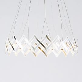 Suspension LED à maillage en accordéon Zoom