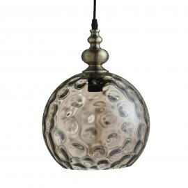Suspension Indiana cognac au style antique