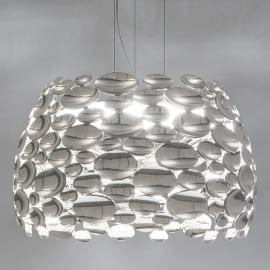 Suspension LED couleur nickel Anish - Ø 63 cm