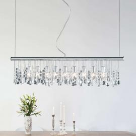 Suspension scintillante CRYSTAL 9 lampes