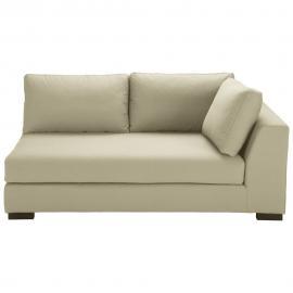 Angle droit de canapé-lit en coton beige Terence