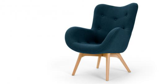 Doris, fauteuil d'appoint, bleu shetland