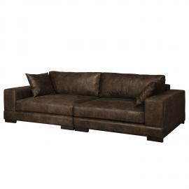 Grand canapé Mandor Aspect cuir vieilli