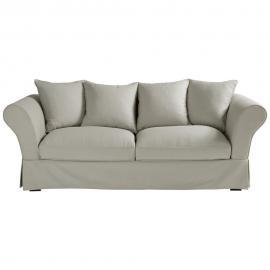 Canapé 3/4 places en coton gris clair Roma
