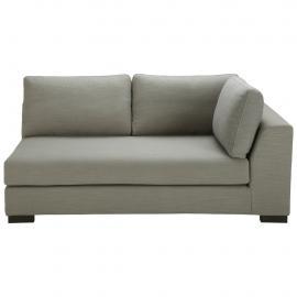 Canapé modulable accoudoir droit gris clair Terence