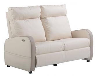 Canapé relaxation 1 moteur cuir bicolore FIDJI, Alimentation fauteuil: Filaire, Colo