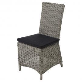 Chaise de jardin en résine tressée grise Cape Town