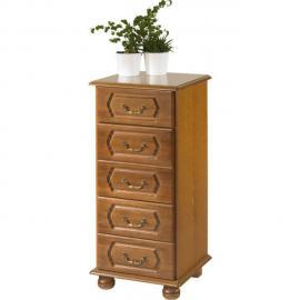 Beaux Meubles Pas Chers Commode Chiffonnier Chêne Rustique 5 tiroirs