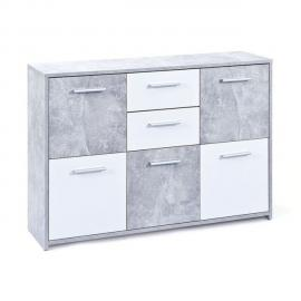 Paris Prix Commode 5 portes Miller Gris
