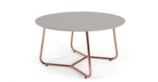 Nyla, table basse, gris et cuivre
