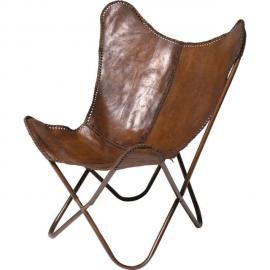 Karedesign Fauteuil Butterfly Marron Kare Design