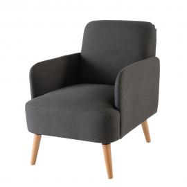 Fauteuil gris anthracite Honey
