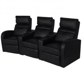 Vidaxl Table basse / meuble Tv ovale noir brillant