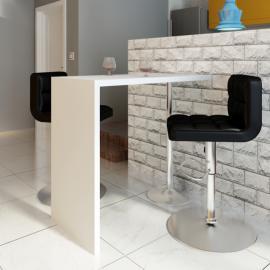 Vidaxl Canapé d'angle 3 places modulable en cuir artificiel blanc