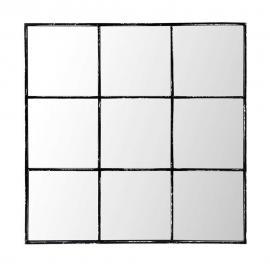 Miroir en métal noir 90x90