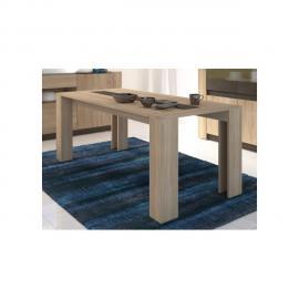 VENTE-UNIQUE Table à manger SUMAI - 6 couverts - Coloris chêne & chocolat