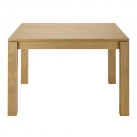 Table à manger carrée extensible 4 à 8 personnes en chêne L120/180 Danube