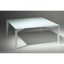 Inside 75 Table basse Tobias en verre blanc
