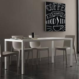 Inside 75 Table repas fixe Carter 160cm blanche