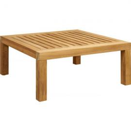 Tiek Table basse de jardin en teck -Naturel - 70 x 70 cm