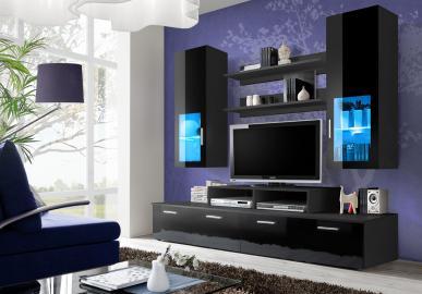 Toledo 3 - Noir meuble tv contemporain
