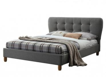 "Birlea Stockholm Grey Upholstered Bed - Double (4'6"" x 6'3"")"