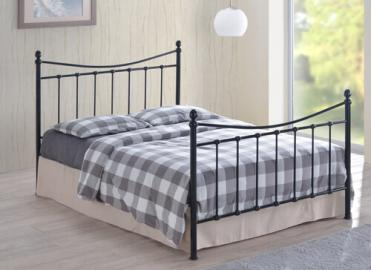 "Time Living Black Alderley Bed Frame - King Size (5' x 6'6"")"