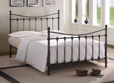 "Time Living Black Florida Bed Frame - Small Double (4' x 6'3"")"
