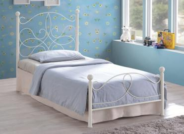 "Time Living Ivory Melissa Bed Frame - Single (3' x 6'3"")"