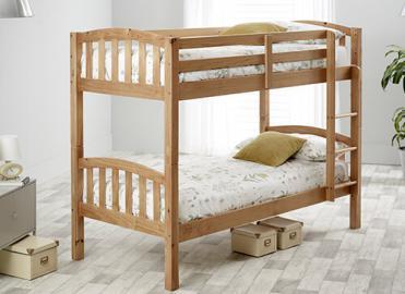 "Bedmaster Pine Mya Bunk Bed - Single (3' x 6'3"")"