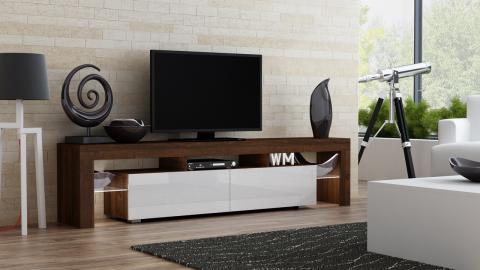 Milano 200 - walnut modern TV stand