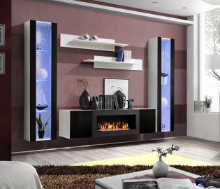 Idea M2 -  tv wall unit with fireplace