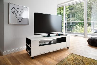 Chelsea - small white tv stand