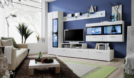 Kane 4 - white entertainment center cabinet